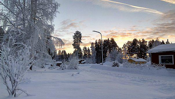 Wintry, Lapland, Sweden, Snowy, Cold