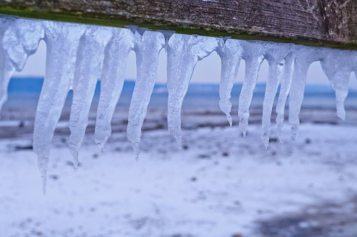 Ice, Water, Blue, Blue Hour, Flensburg, Baltic Sea