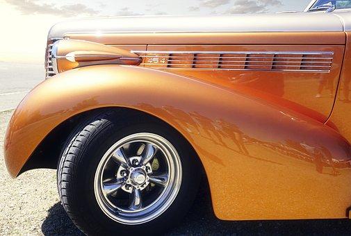 Oldtimer, Auto, Car, Mature, Classic, Old, Spotlight