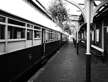 Steam Railway, Steam Train, Station, Vintage, Train