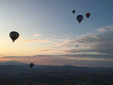 Cappadocia, Balloon, Travel, Turkey, Adventure, Nature