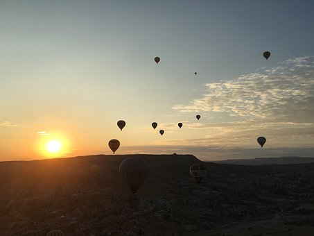 Cappadocia, Turkey, Sunrise, Nature, Travel, Landscape