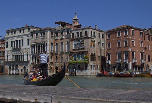 Venice, Venezia, Gondola, Water, Channel, Architecture
