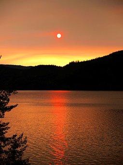 Sunrise, Landscape, Scenic, Lake, Morning, Water