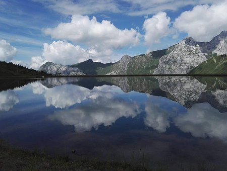 Mountain Lake, Mirror Landscape, Natural, Scenic