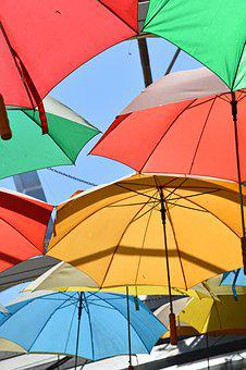 Umbrella, Multi Colour, Color, Rainbow, Gay, Natural