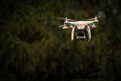 Drone, Surveillance, Flight, Nature, Camera