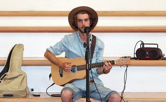 Man, Singer, Guitar, Music, Artists, Show, Musician