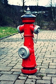Hydrant, Fire, Water Hydrant, Red, Metal, Water