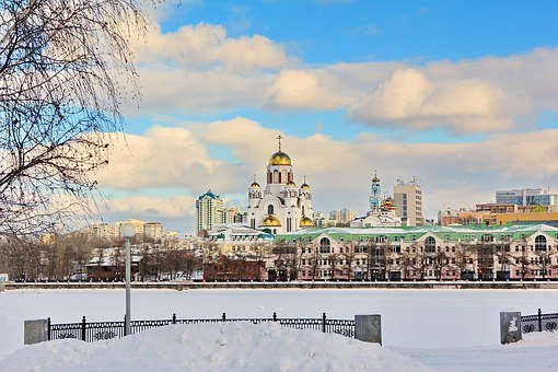 Closeup, City, Ekaterinburg, World, Temple, Snow, Month