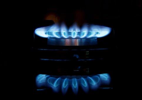 Gas, Flames, Stove, Burner, Fire, Blue, Light, Heat