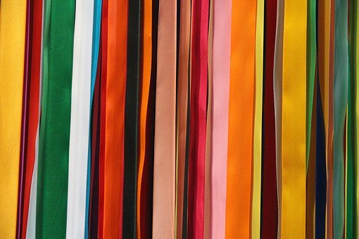 Satin Ribbons, Colored Ribbons, Tape, Multi Colored