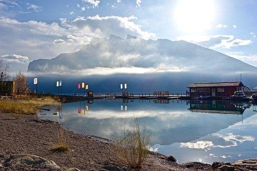 Idyllic, Scenic, Reflection, Boats, Tranquil, Mooring