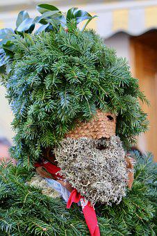 Silvesterchlaus, Holly, Mask, Pinecone Scales, Panel