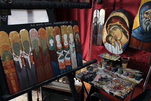 Hagiography Workshop, Orthodox Icons, Painter
