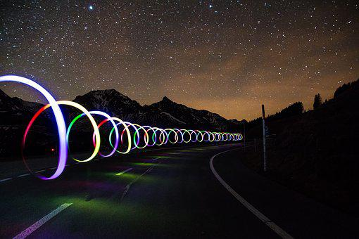 Light Graffiti, Road, Slow Down Take It Easy