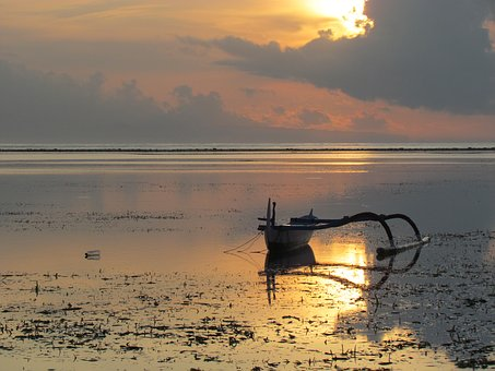 Fishing Boat, Sand, Land Wash, Sunrise, Fisheries