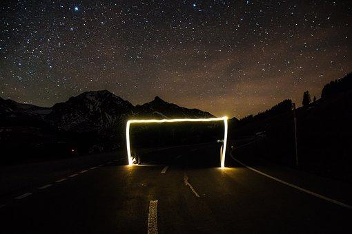 Target, Road, Away, Asphalt, Long Gone, Goal, Mountains