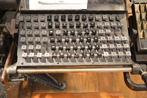 Typewriter, Keys, Letters, Mechanically, Leave, Ribbon