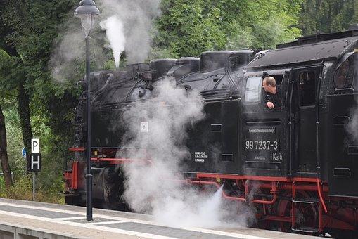 Train, Steam Locomotive, Locomotive, Railway