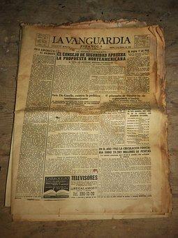 Newspaper, Old Newspaper, Old, Yellowish, The Vanguard