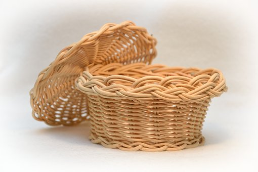 Basket, Scuttle, Rattan, Wicker, Container, Natural