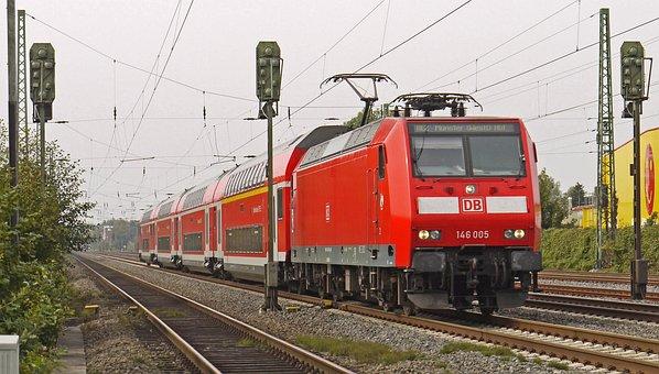 Regional Train, Double-deck Cars, Electric Locomotive