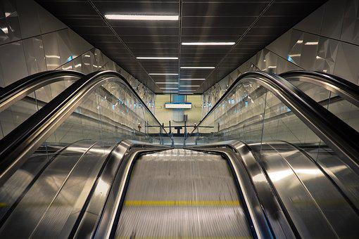 Escalator, Railway Station, Metro, Düsseldorf