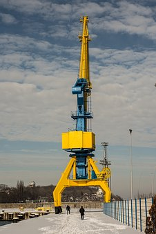 Crane, Industrial, Industry, Construction, Technology