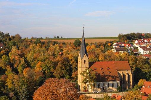 Marbach, Autumn, Landscape, Church