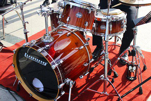 Drum Kit, Drums, Music, Instrument, Rock, Kit, Drummer