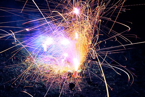 Firework, Explosion, Colorful, Exposure, Holiday, Light