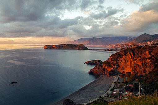 Praia A Mare, Sunset, Noon, Calabria, Italy