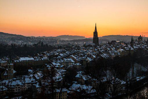 Bern, Switzerland, Rose Garden, Building, Downtown