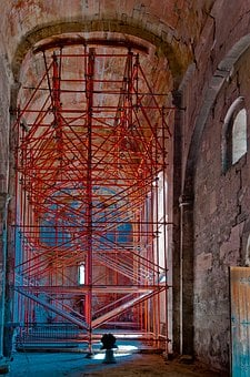 Chapel, Scaffolding, Renovation, Monument, Bell
