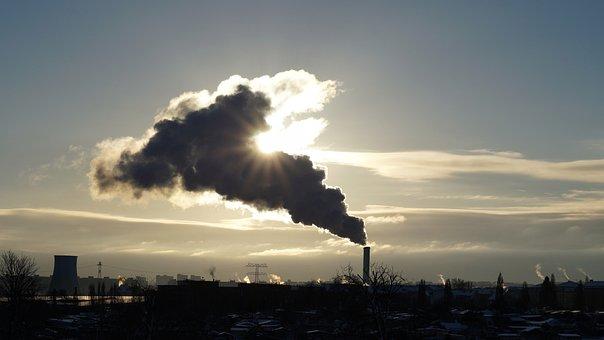 Industry, Smog, Contaminated, Chimney, Sky, Sunrise