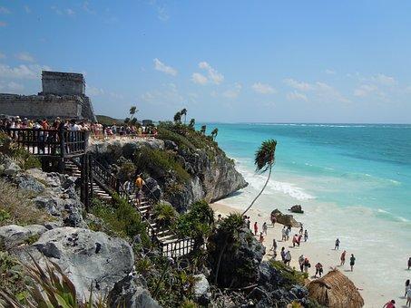 Tulum, Sea, Summer, Mexico, Beach, Maya, Yucatan