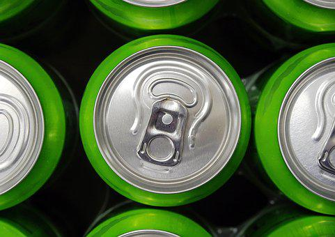 Can, Drink, Beverage, Ring, Pull, Tab, Aluminium, Green