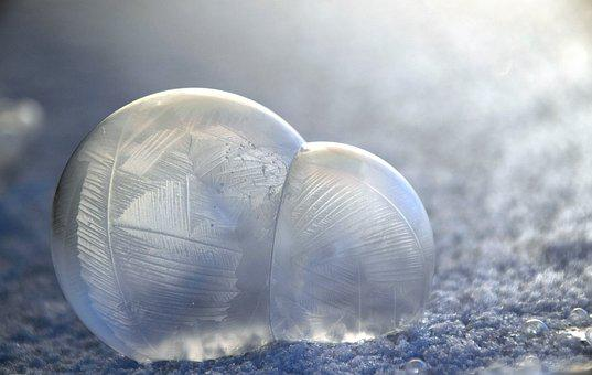 Blow, Soap Bubbles, Frosted, Winter, Blow-frosted, Cold
