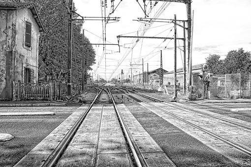Train, Railway, Rail, Sncf, Switch, Track, Line, Path