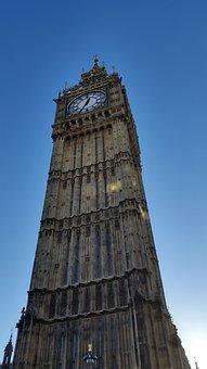 Big Ben, Parliament, England, London, Uk, British
