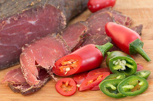 Dried Beef, Meat, Processed, Smoked Beef, Jalapeno