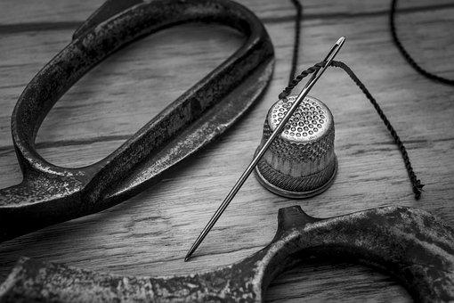 Sewing, Needle, Thimble