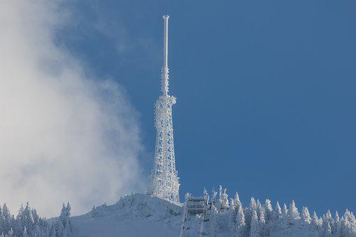 Tv Station, Winter, Snow, Ice, Cold, Wintry, Rau, Snowy