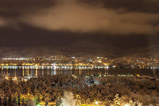 Night, Landscape, Turkey, Light, Istanbul