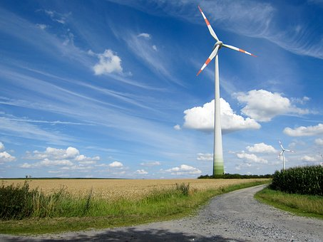Pinwheel, Away, Wind, Clouds, Landscape, Vision, Fields