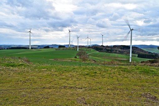 Pinwheel, Windräder, Wind Energy, Windmills, Landscape