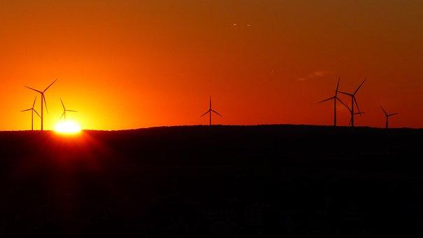 Wind Park, Wind Turbines, Windräder, Wind Power