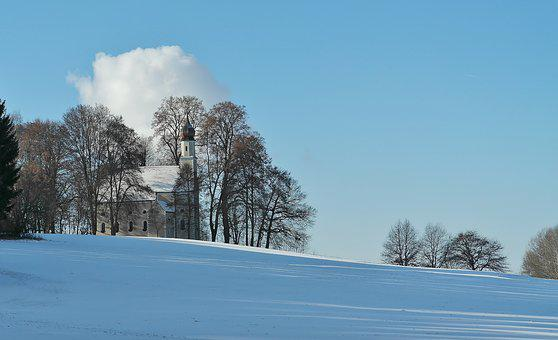 Church, Chapel, Winter, Small Church, Steeple
