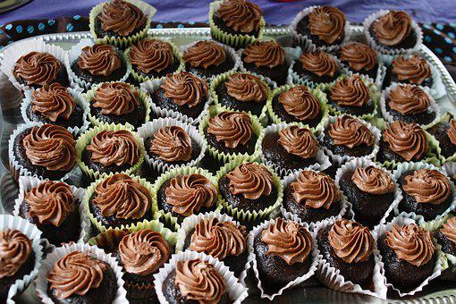 Cupcakes, Chocolate, Frosting, Baked, Snack, Mini